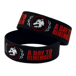 50PCS Lot Rock Style Band A Day To Remember Silicone Bracelet Wear This Wristband To Support Your Idol