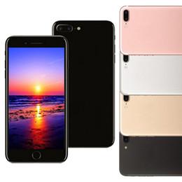 Promotion 8gb wifi Goophone i7 Plus 5.5inch Smartphone 512M / 8G Quad Core MTK6580 Andriod peut afficher le faux téléphone débloqué 1G / 64G 4G LTE WIFI
