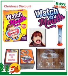 Wholesale Meilleure célébration de Noël set Party Game Jeu de société Watch Ya Bouche Game cards mouthopeners Famille Edition Hilarious Mouth Guard