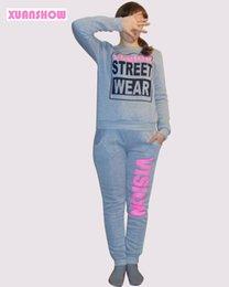 Wholesale 2016 Women s Tracksuit New PiNK Vision Street Letter Printed Sweatsuit Pants Tenue Moletom Feminino