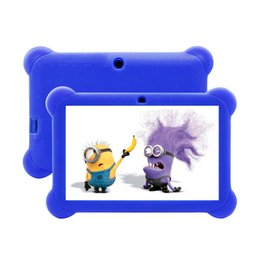 3g usb libre en Línea-Quad Core 7 '' Tablet 8GB HD Android 4.4 KitKat Dual Camera WiFi Paquete para Niños con caja de silicona gratis