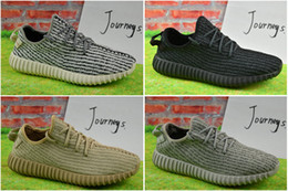 2017 Wholesale Discount Cheap Y Boost 350 Pirate Black Moonrock Oxford Tan Running Shoes Sneakers with Box Women Men Training Boots