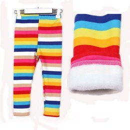 Wholesale High Quality Girl s Baby Winter Leggins Cotton Thicken Kids Girls Long Pants Age Children Rainbow Color Trousers Jean