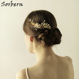 Sorbern Gold  Silver Hair Comb Bridal Tiara Wedding Hair Accessories Bridal Hair Combs Headbands Headpiece Ornament Party Head Jewelry