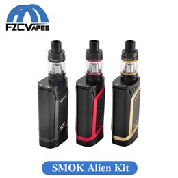 Wholesale Original SMOK Alien W Kit E Cigarette Advanced Vaper Starter Kit Temperature Control Box Mod with Top Refilling