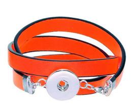 2017 bracelet en cuir véritable 20Pcs NOOSA DIY bijoux bracelet de serrage ajustable Bracelet bouton de serrage Bracelet Bracelet en cuir véritable interchangeable 8Colors style 2016 Novembre budget bracelet en cuir véritable