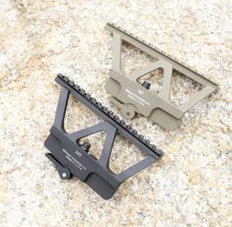 Quick Detach AK Railed Scope Mount Picatinny Side Rail Mounting system Matte for AK-47, AK-74 Black Sand