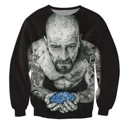 Descuento ropa tatuado Venta al por mayor-Hombres de las mujeres 3d entintó la camiseta de Heisenberg Crewneck tatuada Rompiendo las camisas blancas de la ropa de la manera de los vestidos de la ropa de la manera