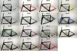 Marcos de carreras en venta-2017 Nuevo modelo 1: 1 Cipollini NK1K carbono carretera marco de la bicicleta brillante matte1K 3K frameset fork seatpost abrazadera Racing Bicycle Frame SL 5