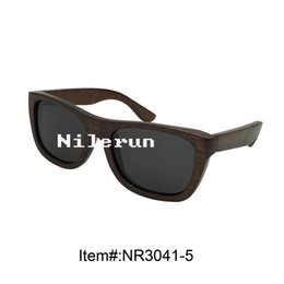 low price dyed dark brown wood sunglasses