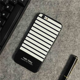 Wholesale Hot Sale IPhone6plus Following The New Style Of Japanese And Korean Couples Striped Silica Gel From Apple Splus Creative Following Reliefs