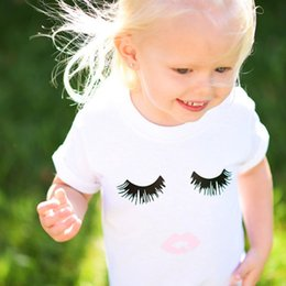Wholesale INS Baby Clothes Summer Boys Girls Kids T shirt Ice Cream Printed Cotton Newborn White T shirt Tees Children Kids Clothing