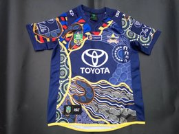 Wholesale NRL National Rugby League North Queensland cowboys jersey High temperature heat transfer printing jersey Rugby Shirts