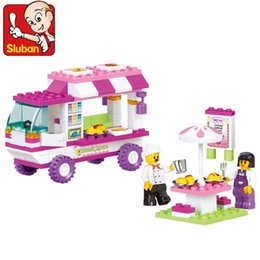 Wholesale 1 Set Girl Series Food truck Friend Outdoor Snack House Mini Figure Kids Toy Building Blocks Sets Model Toys Minifigures Brick