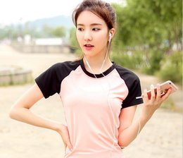 Spring and summer sports t-shirt t-shirt yoga clothing coat dry running female aerobics fitness body perspiration