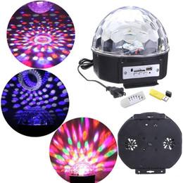Lucky star RGB MP3 Boule de cristal magique LED Music scène lumière 18W Accueil Party disco DJ party Éclairage Lights + U Disk Remote Control à partir de lumière magique étoile fabricateur