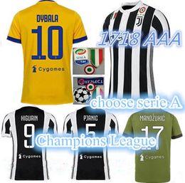 TOP QUALITY men 17 18 HIGUAIN POGBA Soccer Jersey 2018 italy CUADRADO DYBALA MARCHISIO BONUCCI MANDZUKIC CHIELLINI MARCHISIO Football Shirt.
