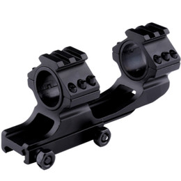 2016 New 25mm 30mm Dual Ring Cantilever Scope Mount Picatinny Weaver Rail Scope Mounts Hunting Caza Black