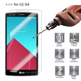 100PCS Tempered Glass Screen Protectors For LG G4 H818 H810 H815 F500 VS999 2.5D Explosion Shatter Screen Protector Film DHL logistics