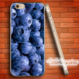 Capa Luxury Blueberry Soft Clear TPU Case for iPhone 6 6S 7 Plus 5S SE 5 5C 4S 4 Case Silicone Cover.