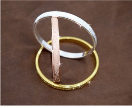 Wholesale New Arrival High Quality Scrub fashion Love Forever Bangle platinum K Rose gold Plated Bracelet for couple Freeshipping