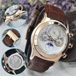 Wholesale Curved Black Buckles - New Listing Luxury Brand Men Wristwatch Top Automatic Movement AAA Curved Glass With Logo