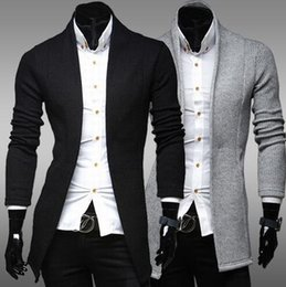 Fall Clothing New Mens Casual Stand Collar Solid Color Fashion Jacket