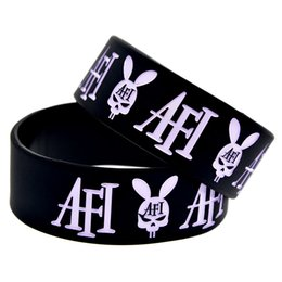 Wholesale Hot Sell PC Wide Band A Fire Inside Punk Style Band Silicon Wristband Perfect Gift for Music Fans