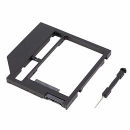 Una caja portadiscos disco en Línea-Venta al por mayor - 1 juego de HDD Caddy disco duro disco SATA caso con destornillador para PC portátil
