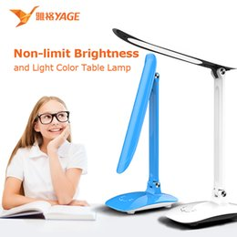 Wholesale YAGE Desk Lamp Led Table Lamp book Light night light reading light for Study Lamp for Work Non Limit Brightness Touch On Off