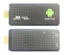 Wholesale 10PCS MK809 Quad Core TV Box Stick Media Player Google Android RK3229 GB RAM GB WIFI Bluetooth P HDMI Smart TV Dongle