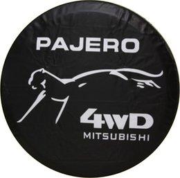 Housse de pneu de rechange pour roue arrière pour voiture Mitsubishi PAJERO 4WD Noir Housse de pneu pour pneu Nice Heavy Vinyl Nouveau à partir de 4wd nouvelle voiture fournisseurs
