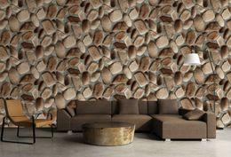 Papier peint 3d effet d'ardoise pierre papier peint faux rock ressemble à mur en pierre gros pour le restaurant salle de séjour à partir de fond d'écran d'ardoise fabricateur