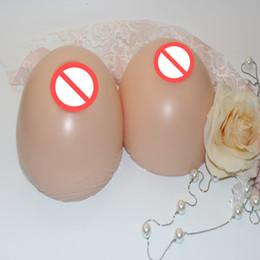Free Shipping 300g~1600g pair Round Shape Realistic Silicone False breast Artificial Breasts Forms whole sale for men