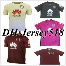 Wholesale DHL shipping Mexico club America shirt O PERALTA SAMBUEZA American th anniversary red yellow soccer football jersey thai quality