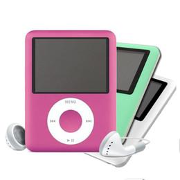 Promotion mémoires vidéo Grossiste- Lecteur MP3 Lecteur de musique 3ème écran de 1,8 pouces 16 Go Mémoire Radio FM jeux Portable vidéo mini player 6 couleurs