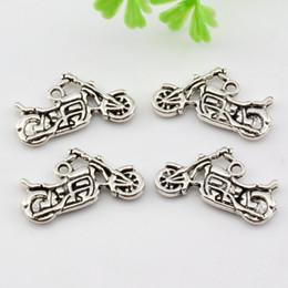 Wholesale Hot Antique silver Zinc Alloy Duplex Motorcycle Charm Pendants DIY Jewelry x14mm A