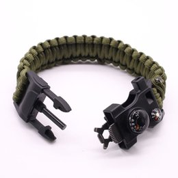 The Friendly Multi-purpose Paracord Bracelet Survival Kit for Preppers with fishing hook,mini compass flint whistle knife