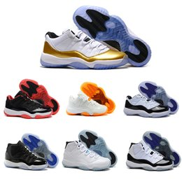 Wholesale 2016 man basketball shoes air retro Metallic Gold Concord XI Georgetown Citrus Navy Gum Bred Gamma Blue space jam Sneakers Size