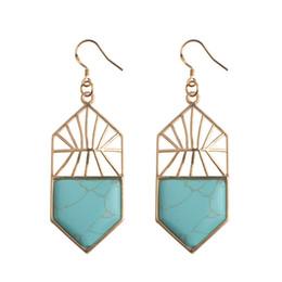 Wholesale 10Pairs Natural Semi Precious stone Gemstone Chakra Healing Shield Earrings Adjustable Women crystal Rings