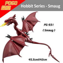 Wholesale Smaug Minifig The Lord of Ring Figures Hobbit Minifig Hobbit The Lonely Mountain Smaug Building Blocks Model PG931 Smaug