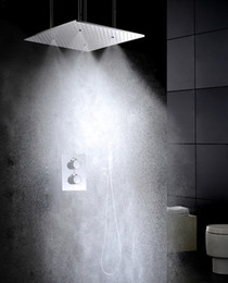 20 Inch Atomizing And Rain Shower Head Easy-Installation Embedded Box Shower Valve Thermostatic Bathroom Shower Faucet Sets 002T-20WMI-F