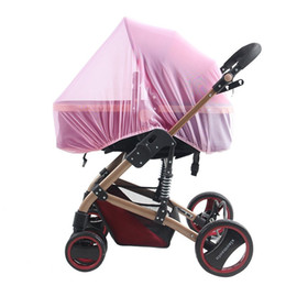 Promotion poussette bébé insecte Vente en gros - Nouveaux Baby Buggy Pram Mosquito Cover Net Pushchair Stroller Fly Insect Protector Covers