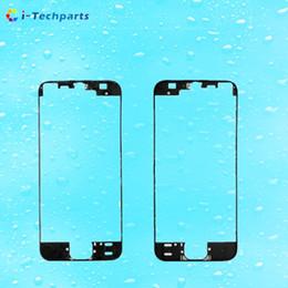 Envío libre del iphone de la manzana en venta-Envío de DHL para el iPhone SE Touch Screen marco embellecedor frontal con cinta caliente adhesivo pegatina para el iPhone 5S, Negro Blanco