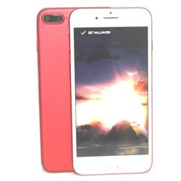Red Goophone i7 Plus Android 6.0 Quad Core MTK6580 1GB RAM 8GB ROM 1280*720 HD 5.5 Inch 3G WCDMA Unlocked Smartphone