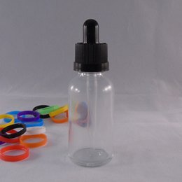 Eliquid glass dropper bottle 30ml pipette beard oil ecig oil bottle clear color cheap circular cosmetic nail polish bottle child proof cap