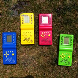 Wholesale New Classic Toy Tetris Game Hand Held LCD Electronic Game Toys Triple Tetris Brick Game Sliding Blocks