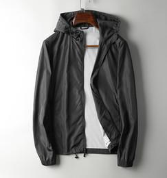 Black classic handsome style jacket~ thin nylon anti-wrinkle quick-drying fabric~men's hood reduce age jacket