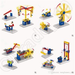 Wholesale Enlighten Model Building Kits Gear Toys Assembly DIY Blocks Mechanical Engineer Merry Go Round Seesaw Model Gift With Box CCA5409
