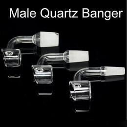 Wholesale side pocket Honey bucket Pure quartz nail Quartz Banger oil burner Female and male Joint mm mm mm Domeless Glass Bong Nail